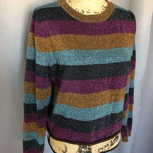 FOREVER 21 Metallic Sweater
